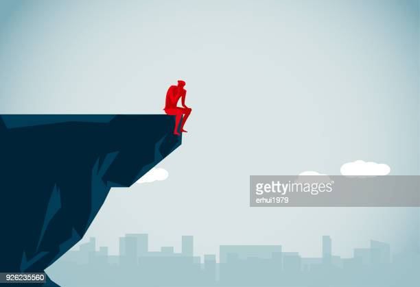 suicide - steep stock illustrations, clip art, cartoons, & icons