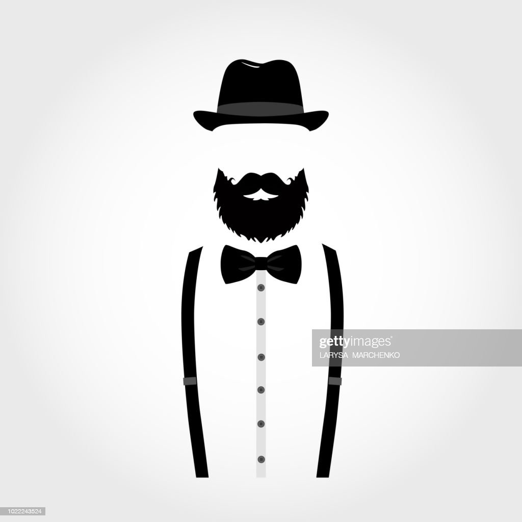 Suit icon isolated on white background. Gentleman icon.