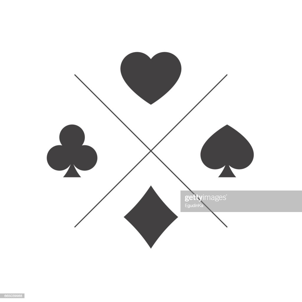 Suit of playing cards icon