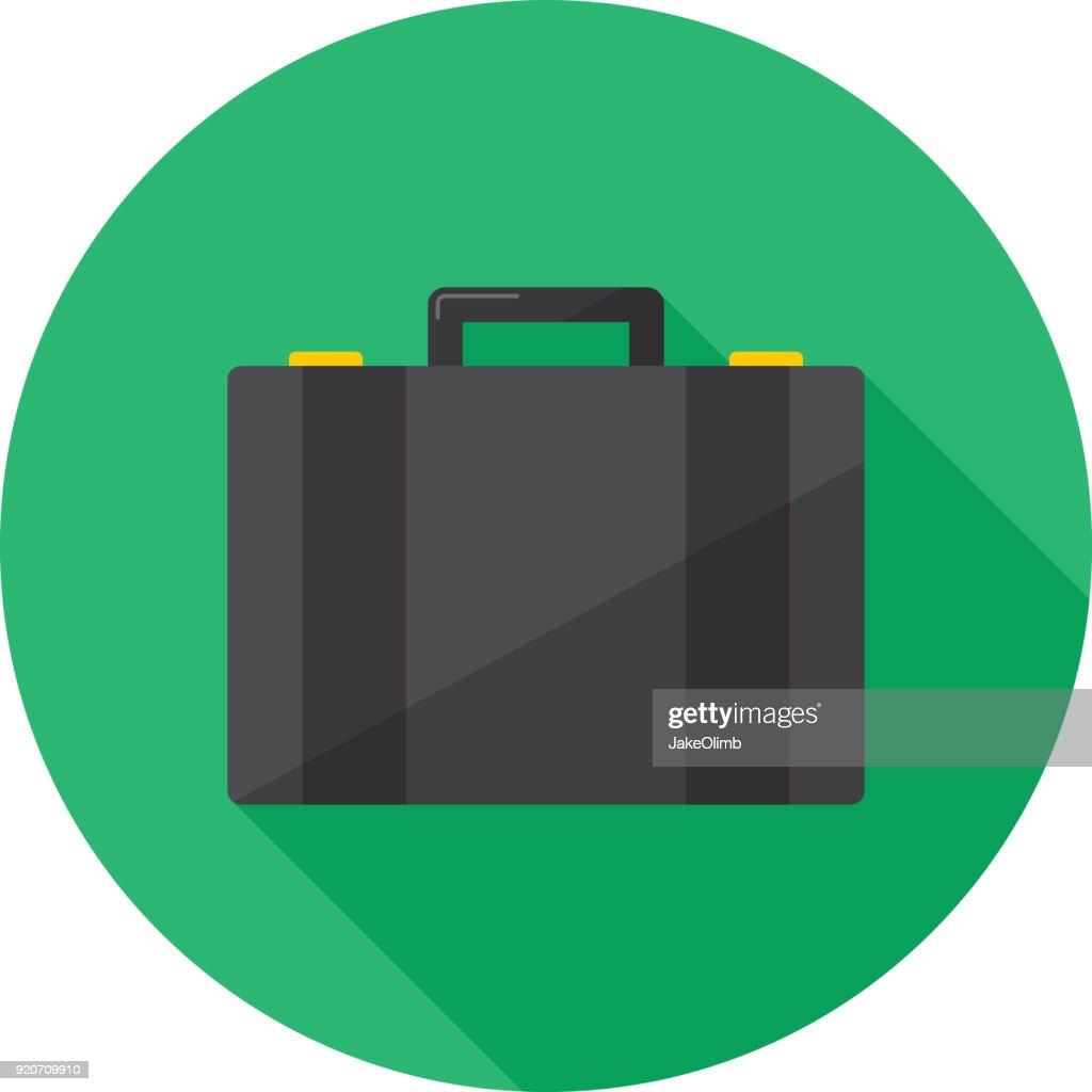 Suitcase Icon Flat : stock illustration