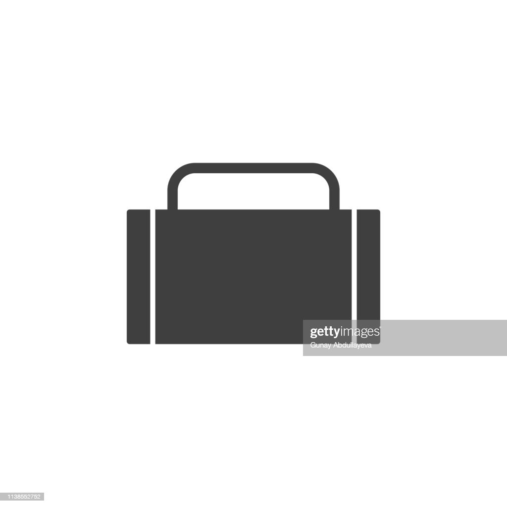 suitcase icon. One of the collection icons for websites, web design, mobile app