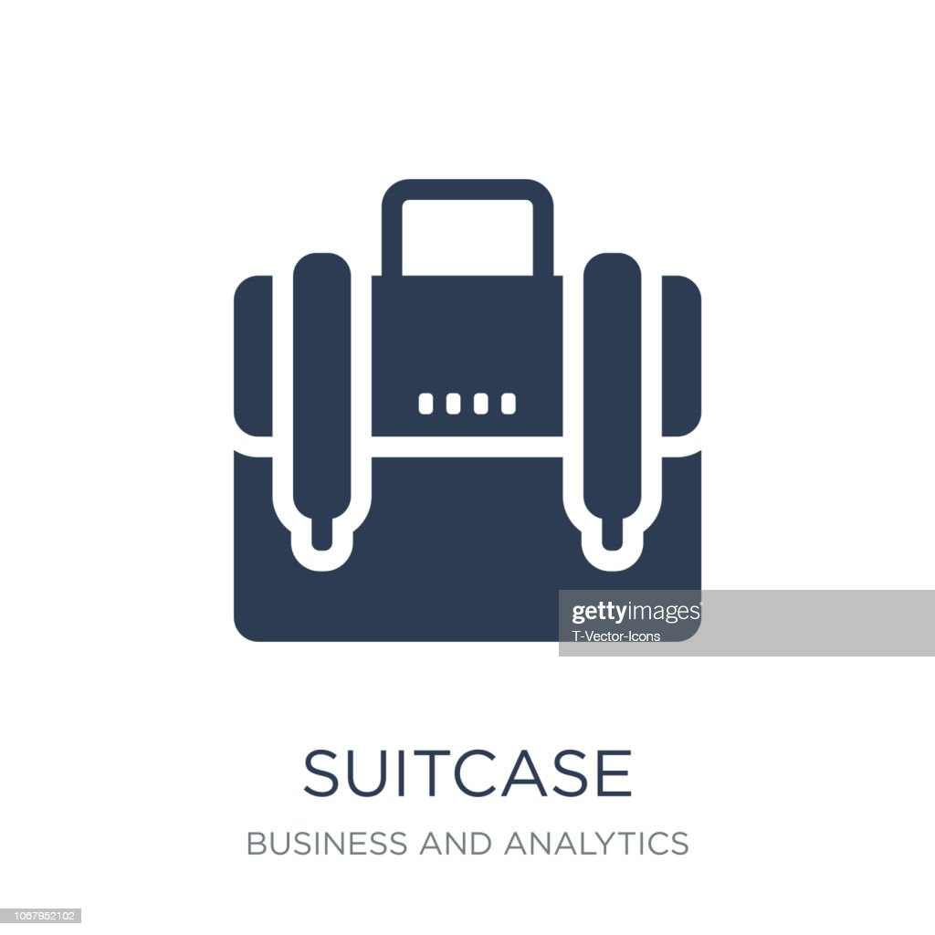 Suitcase icon. Trendy flat vector Suitcase icon on white background from Business and analytics collection