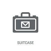 Suitcase icon. Trendy Suitcase logo concept on white background from Business and analytics collection