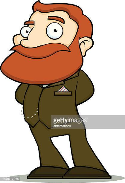 Suited Gentleman with Ginger Beard