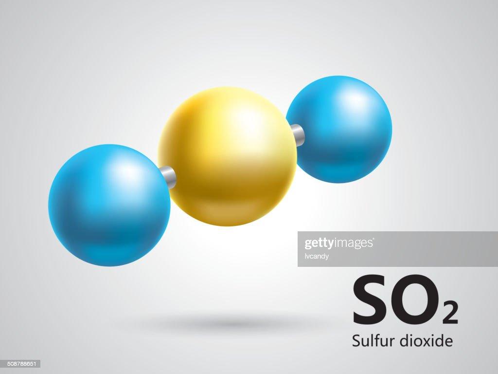 Sulfur Dioxide Molecular Model Vector Art Getty Images
