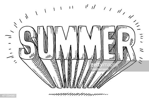 summer 3d text drawing - 2015 stock illustrations, clip art, cartoons, & icons