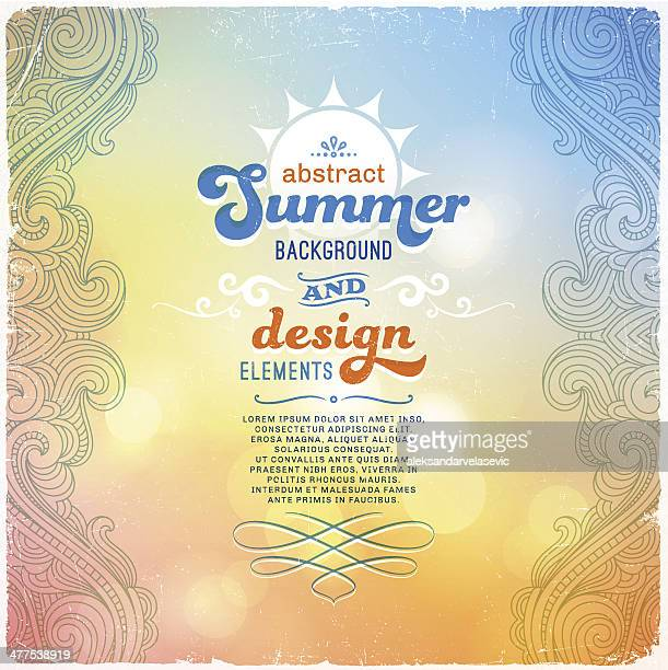 summer abstract background - signal flare stock illustrations, clip art, cartoons, & icons