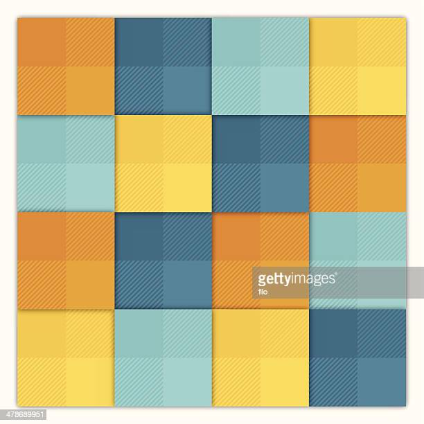 summer abstract squares background - quilt stock illustrations, clip art, cartoons, & icons