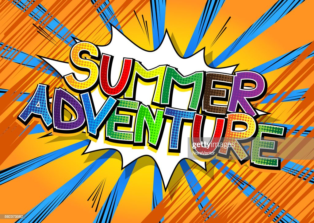 Summer Adventure - Comic book style word.