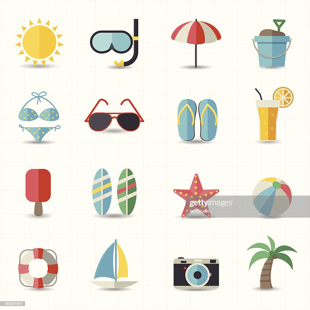 Summer and beach icons