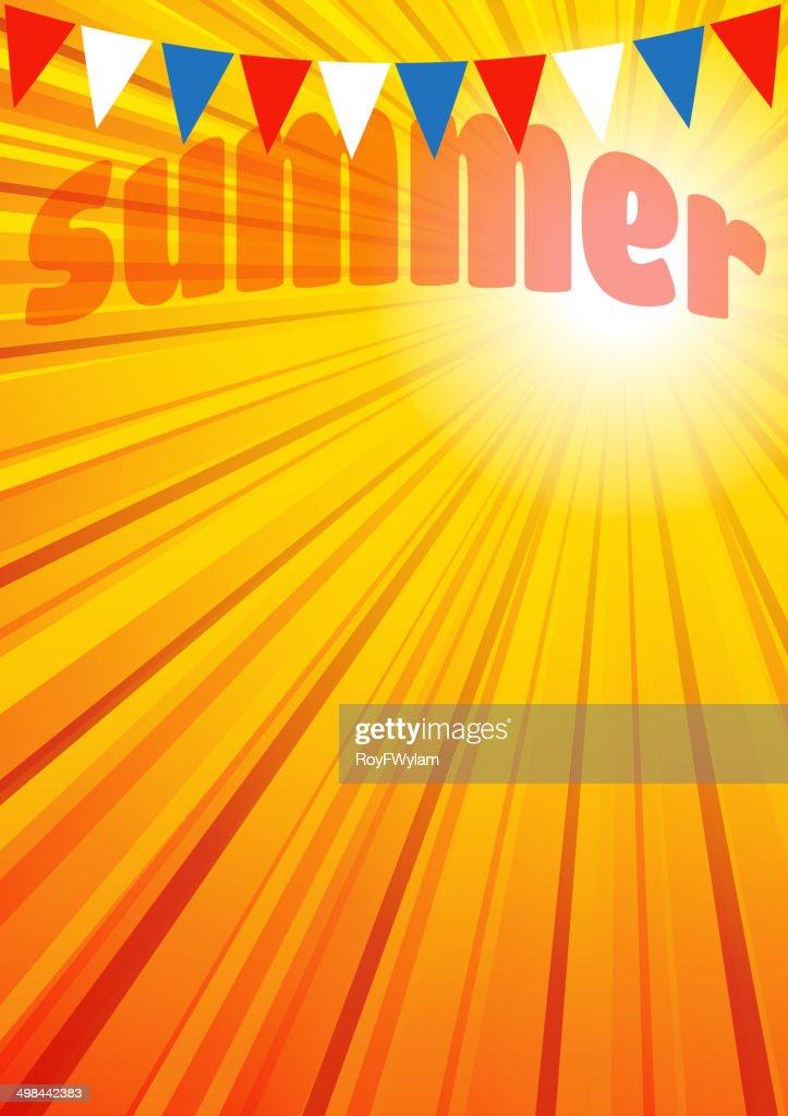 Summer Background Leaflet Flyer Poster