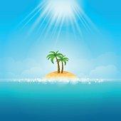 Summer Background - tropical Island