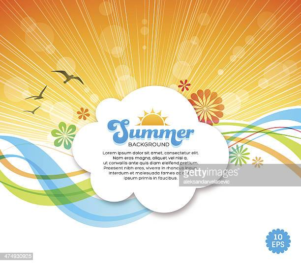 summer background - signal flare stock illustrations, clip art, cartoons, & icons