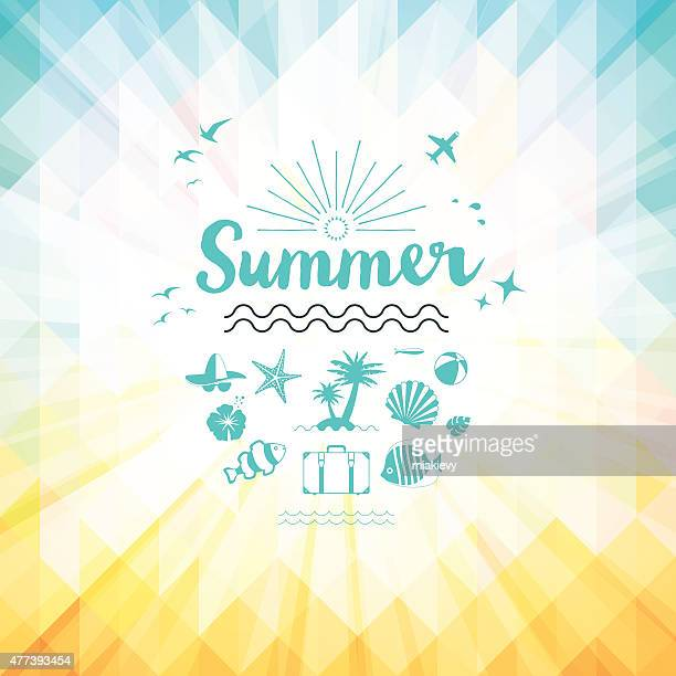 summer background - holiday travel stock illustrations, clip art, cartoons, & icons