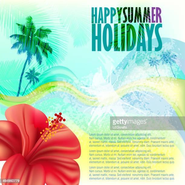 summer background - plant attribute stock illustrations, clip art, cartoons, & icons