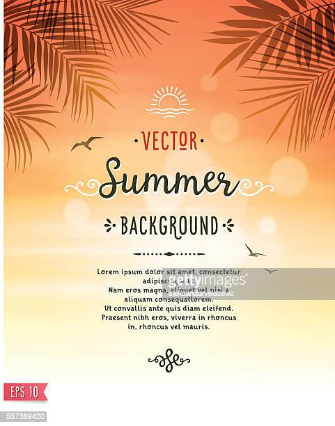 ilustrações, clipart, desenhos animados e ícones de fundo de verão - verão