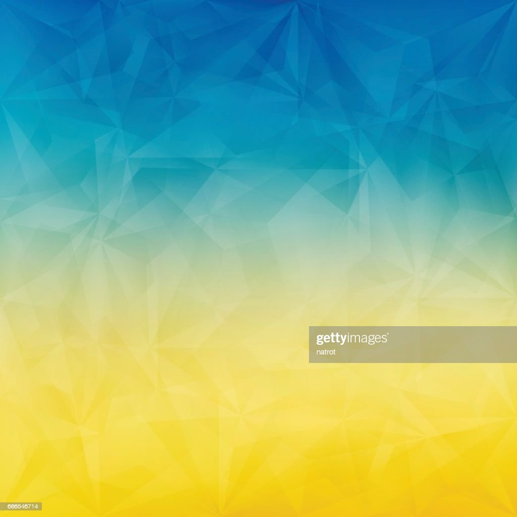 Summer background with blue and yellow triangle pattern