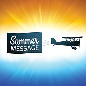 Summer Background with Message