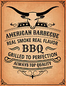 Summer Barbecue Invitation Card Royalty free vector illustration.