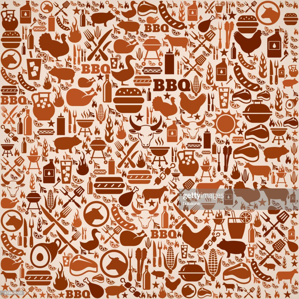 summer barbecue invitation vector background pattern