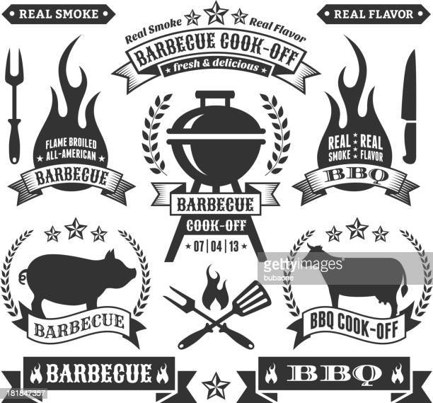 summer barbecue royalty free vector graphics - contestant stock illustrations