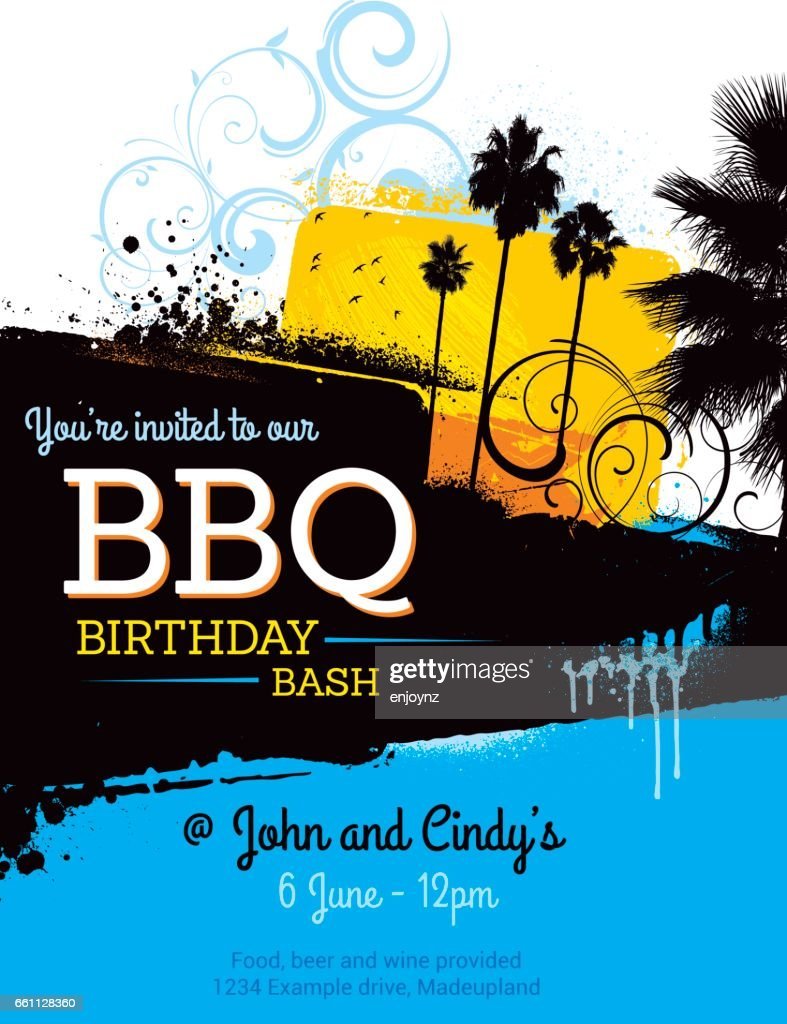 summer bbq party poster invitation vector art | getty images