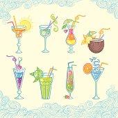 Summer beach cocktail