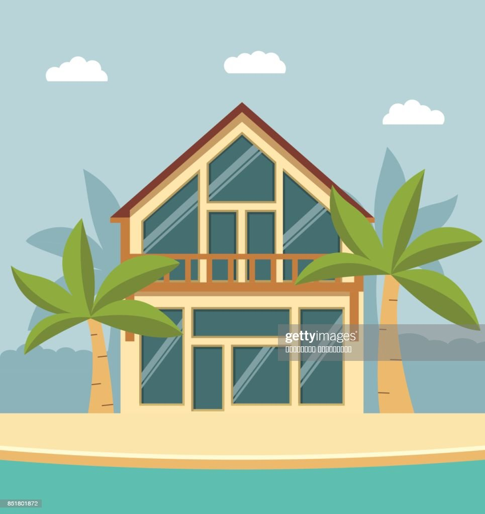Summer Beach House For A Holiday Close