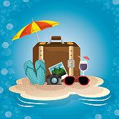 Summer beach icon