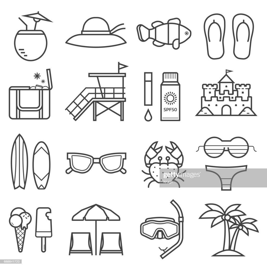 Summer Beach Icons