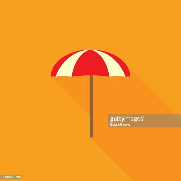 夏のビーチパラソル、傘。フラットなデザイン。ベクトルイラスト。 - 日よけ点のイラスト素材/クリップアート素材/マンガ素材/アイコン素材