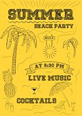 Summer Beach Party Flyer or Poster