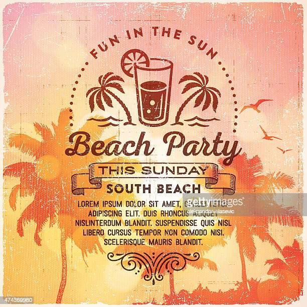 Sommer Strand Party-Einladung Hintergrund