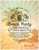 Summer Beach Party Invitation Background