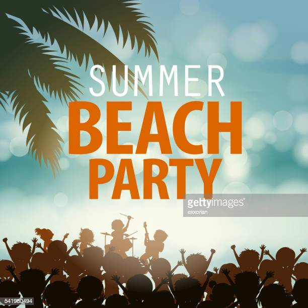 summer beach rock music festival - modern rock stock illustrations