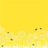Summer Bees Background