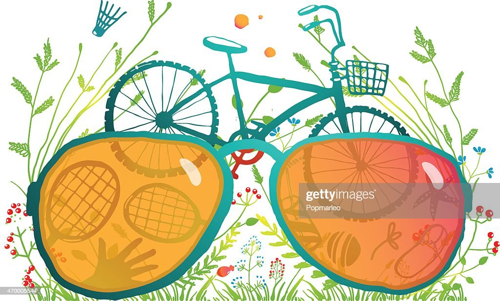 Summer Bicycle Sunglasses Recreation in Nature