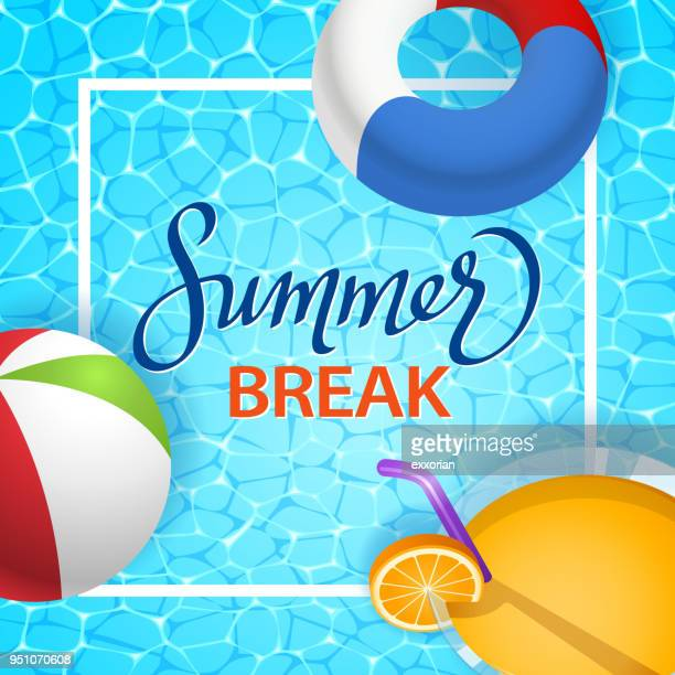 illustrations, cliparts, dessins animés et icônes de vacances d'été - bouée gonflable