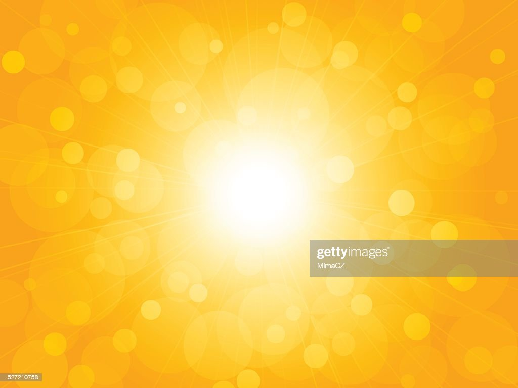 summer brightly blur ray yellow background