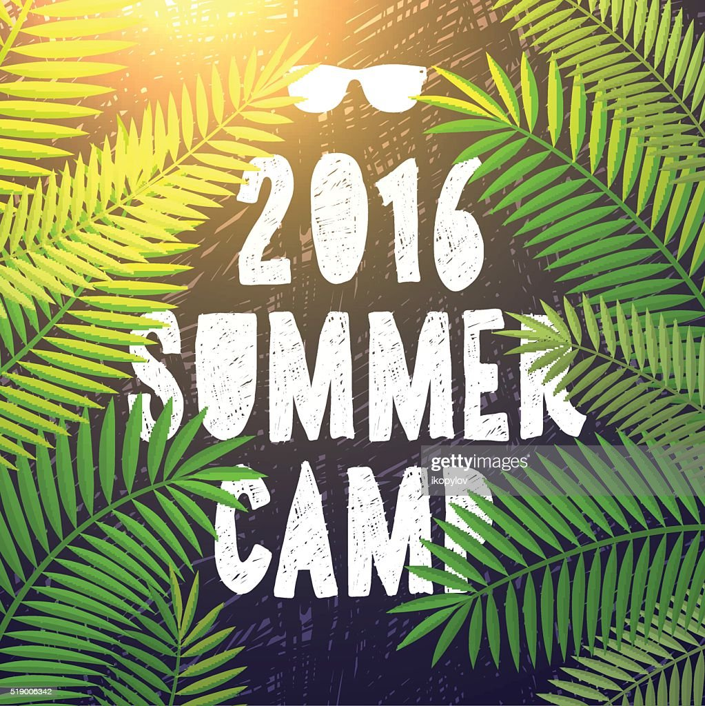 Summer camp 2016, themed and vacation poster