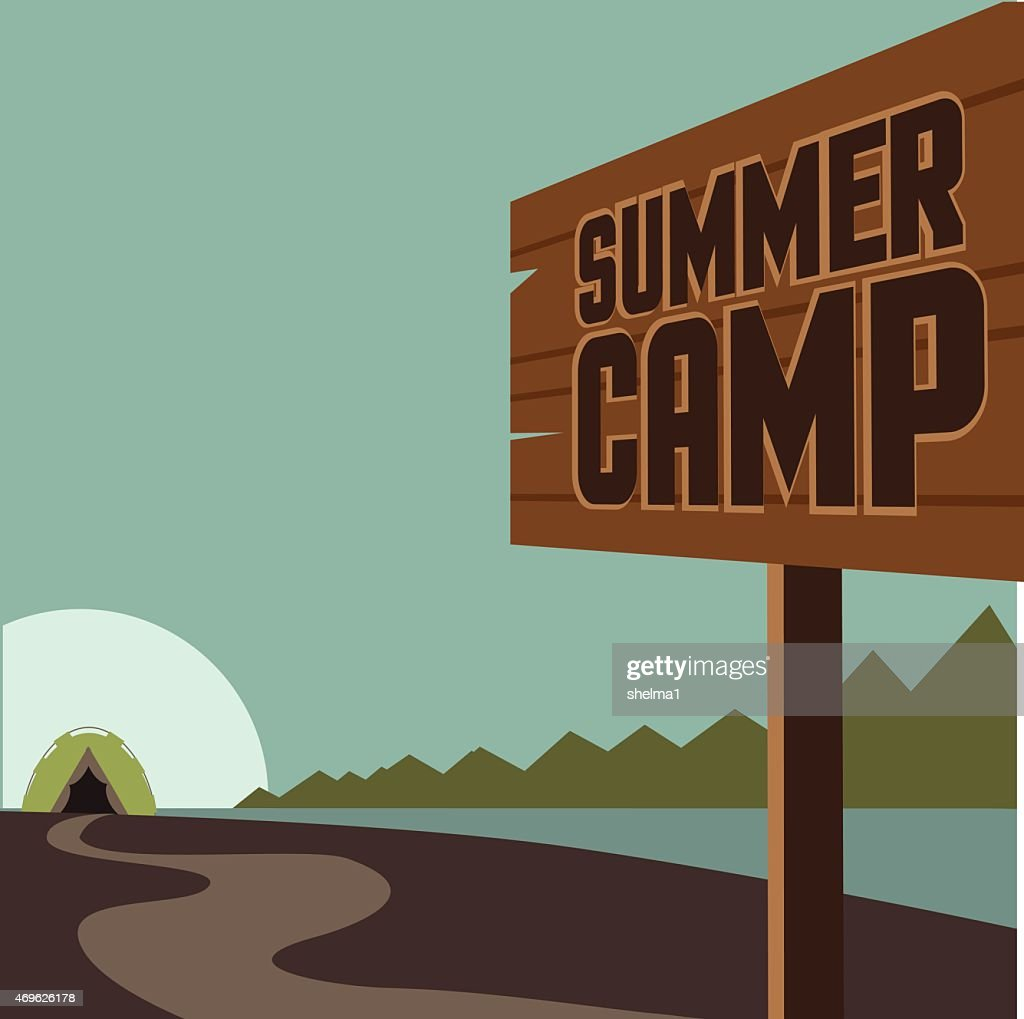 Summer camp background EPS 10 vector