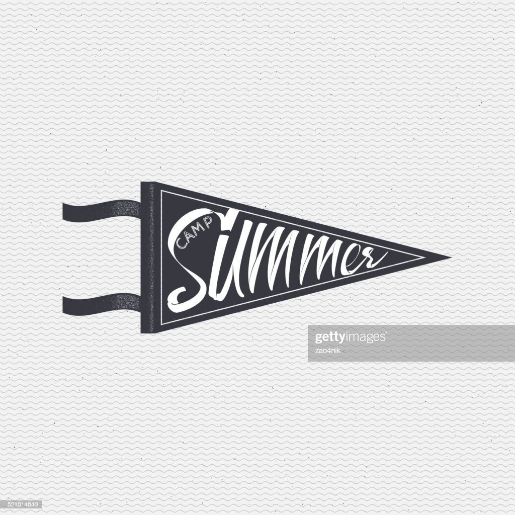 Summer Camp - badge, icon, poster, label, print, stamp, can