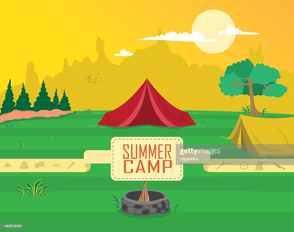 Camp Dete Vector Clipart Illustration Getty Images