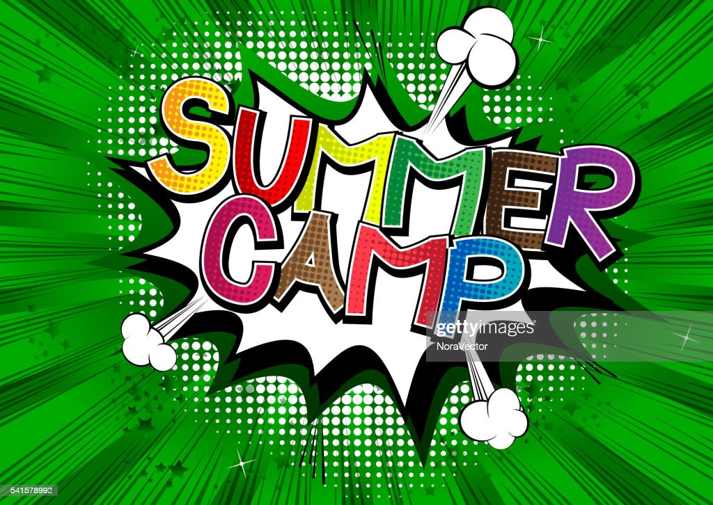 Summer Camp - Comic book style word.