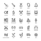 Summer Camp Pack Line Icons