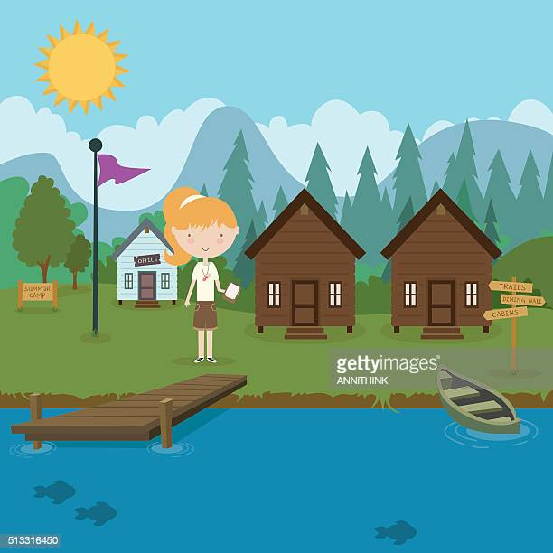 Summer Camp Stock Illustrations - Getty Images