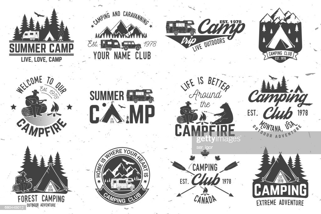 Summer camp. Vector illustration. Concept for shirt or , print, stamp or tee