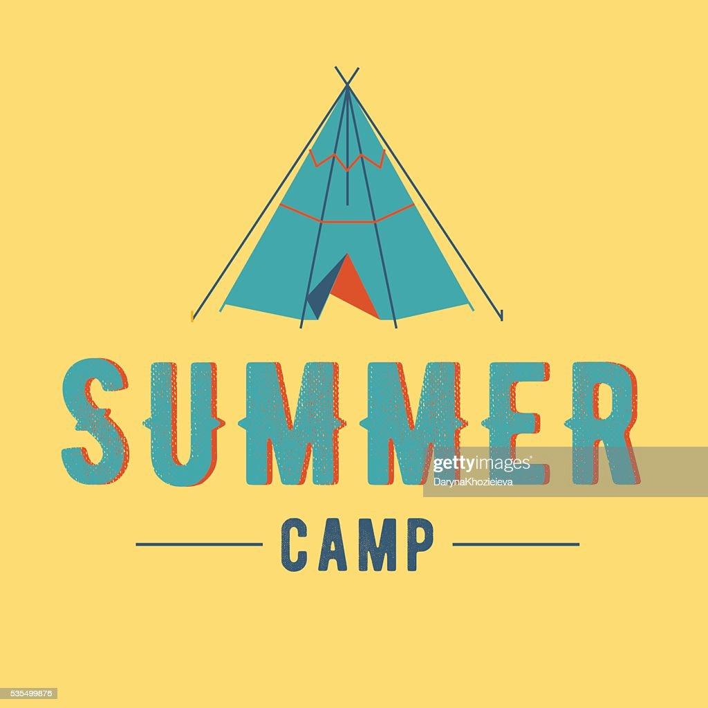 summer camp vector label summer camp