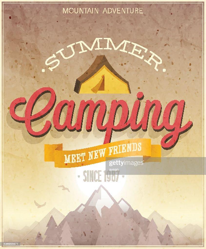 Summer Camping poster.