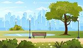 Summer city park.
